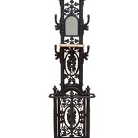 Stylish Victorian Cast Iron Hall Stand