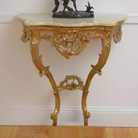Early 19thC Giltwood Console Table Hall Tab