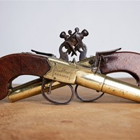Pair of 18th century pistols by John Twigg