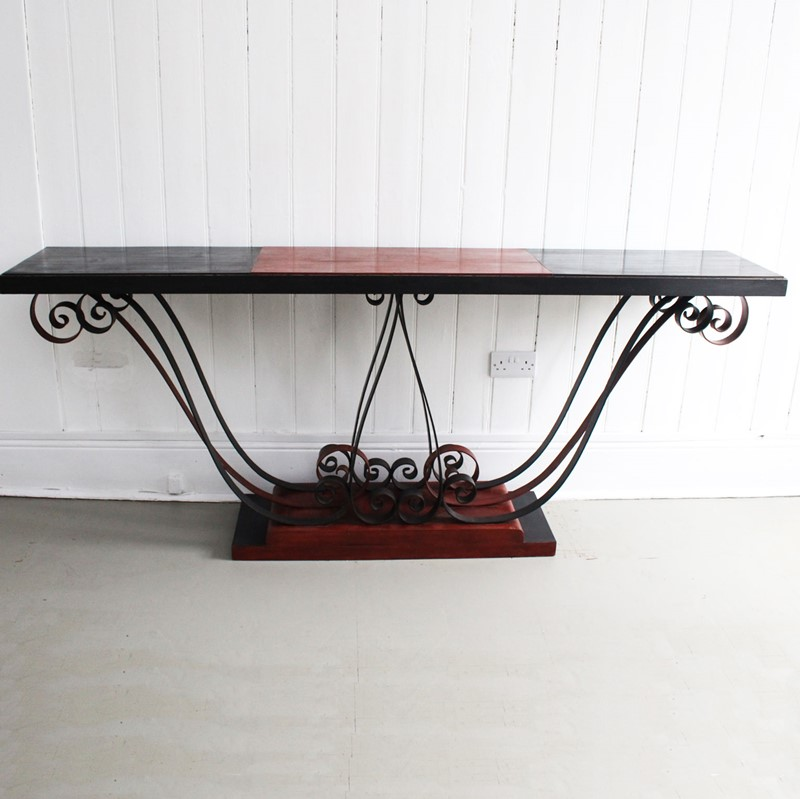 1930's Italian Painted Wood & Wrought Iron Console-streett-marburg-1930-s-red-black-console-table-french-streett-marburg-a673a-main-637375103812916624.jpg