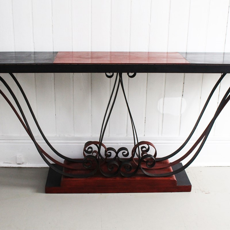 1930's Italian Painted Wood & Wrought Iron Console-streett-marburg-1930-s-red-black-console-table-french-streett-marburg-a673b-main-637375103940451031.jpg
