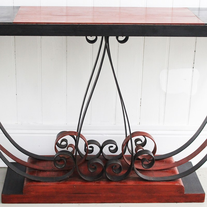 1930's Italian Painted Wood & Wrought Iron Console-streett-marburg-1930-s-red-black-console-table-french-streett-marburg-a673c-main-637375103965783147.jpg