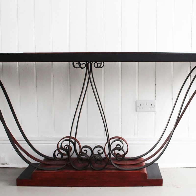 1930's Italian Painted Wood & Wrought Iron Console-streett-marburg-1930-s-red-black-console-table-french-streett-marburg-a673d-main-637375104008886750.jpg