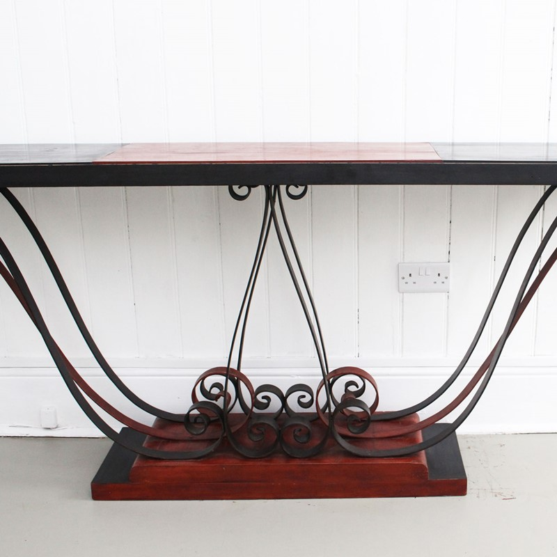 1930's Italian Painted Wood & Wrought Iron Console-streett-marburg-1930-s-red-black-console-table-french-streett-marburg-a673e-main-637375104048192856.jpg