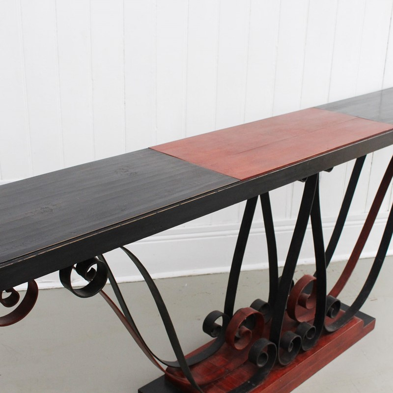 1930's Italian Painted Wood & Wrought Iron Console-streett-marburg-1930-s-red-black-console-table-french-streett-marburg-a673g-main-637375104133364448.jpg