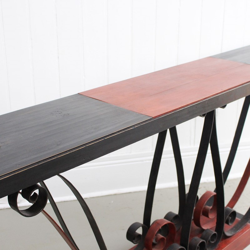 1930's Italian Painted Wood & Wrought Iron Console-streett-marburg-1930-s-red-black-console-table-french-streett-marburg-a673h-main-637375104250370278.jpg