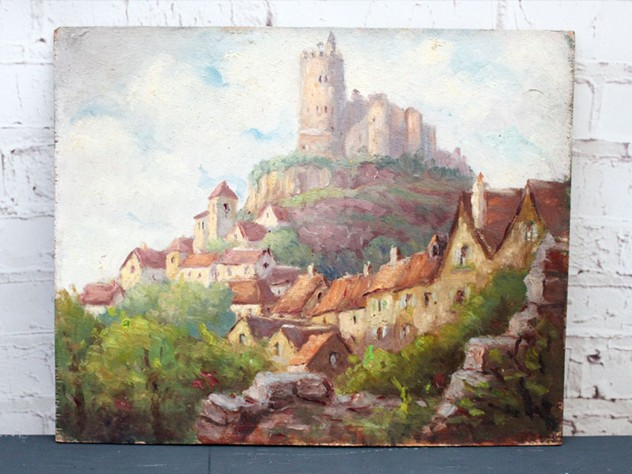 Oil on Board Village on a Hill Painting-streett-marburg-1940_s-French-Oil-on-Board-Painting-Village-on-Hill-Scene-Streett-Marburg-H514a_main_636487075093319516.jpg
