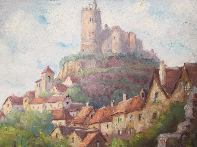 Oil on Board Village on a Hill Painting-streett-marburg-1940_s-French-Oil-on-Board-Painting-Village-on-Hill-Scene-Streett-Marburg-H514b_main_636487075153850620.jpg