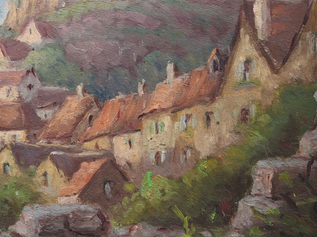 Oil on Board Village on a Hill Painting-streett-marburg-1940_s-French-Oil-on-Board-Painting-Village-on-Hill-Scene-Streett-Marburg-H514c_main_636487075219529988.jpg