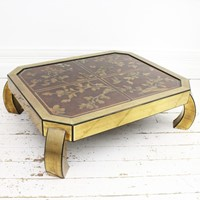 Bespoke Brass & Chinoiserie Coffee Table