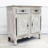 Limed Baby French 19th Century Buffet Sideboard