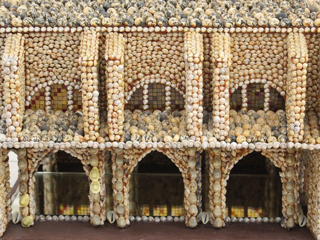 Folk Art Antique French Shell Palace Model  -streett-marburg-Antique-Shell-Palace-1910-N376c_main_636285501841119835.jpg
