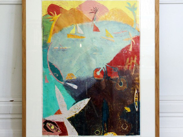 Abstract Screen Print of Lake Scene-streett-marburg-Streett-Marburg-Vintage-Screen-Print-Boats-Sea-English-H419b_main_636419562075067184.jpg