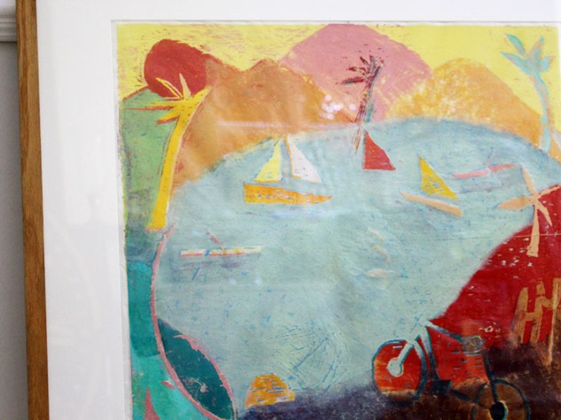 Abstract Screen Print of Lake Scene-streett-marburg-Streett-Marburg-Vintage-Screen-Print-Boats-Sea-English-H419c_main_636419562111105032.jpg