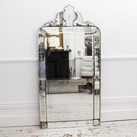 Late 19th Century Etched Venetian Mirror