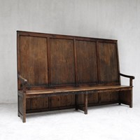 Large High Back Catalan Bench