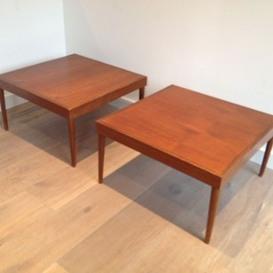 Pair of large Scandinavian side tables