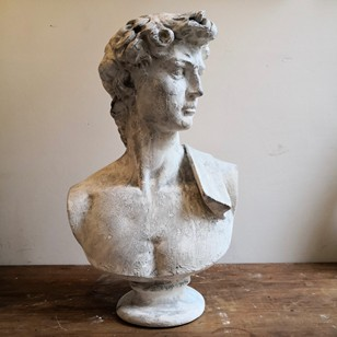 A plaster bust of David