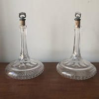 A pair of ships decanters