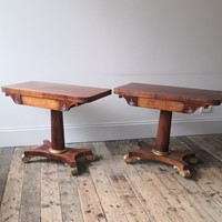 A pair of 19th century card tables