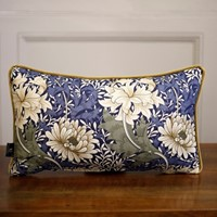 TallBoy Interiors lumber cushion- WM Blue flower