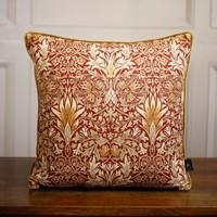 "TallBoy Interiors 19"" cushion- WM Red and Gold"