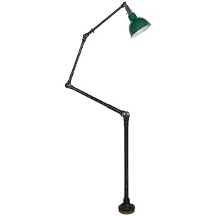 Vintage industrial articulate floor lamp
