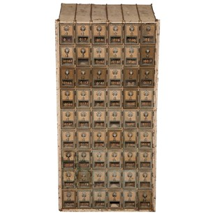 Antique U.S. Post Office Mail Boxes
