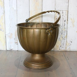 Antique solid brass bucket