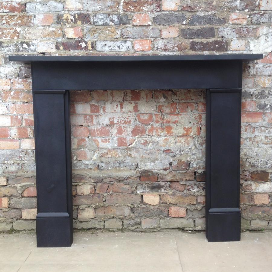 Reclaimed Black Slate Fireplace Surround Decorative Collective