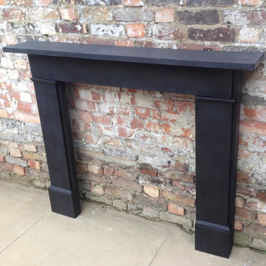 Reclaimed Black Slate Fireplace Surround Decorative