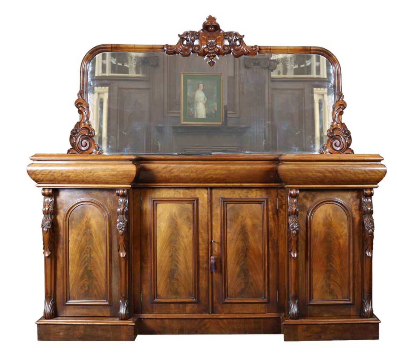 Zoom; Antique Mahogany Sideboard and Mirror-the-architectural-forum-Screen  Shot - Antique Furniture Forum Antique Furniture