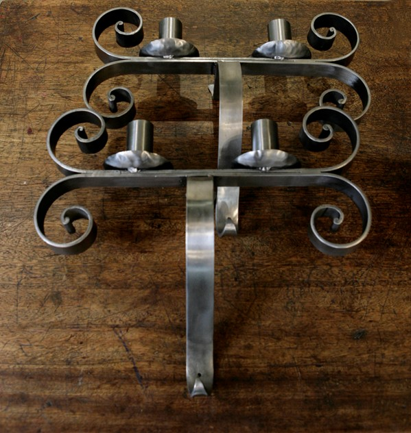 Antique Polished Iron Candle Sconces-the-architectural-forum-_MG_8077_main.jpg