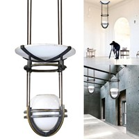 Large art deco suspended lighting