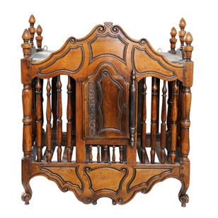 French 18th Century Louis XVI Walnut Panetiere
