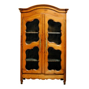 French Louis XV Pale Cherrywood Bookcase