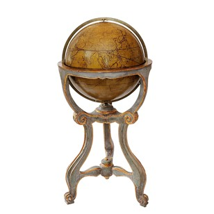 Painted & Giltwood Italian Library Globe Stand