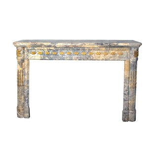French Louis XVI Neo-Classical Marble Fireplace