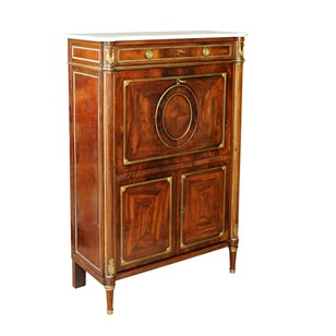 French Louis XVI Mahogany Secretaire Bureau