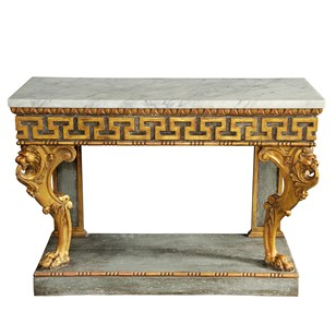 Continental Style Painted & Giltwood Console Table