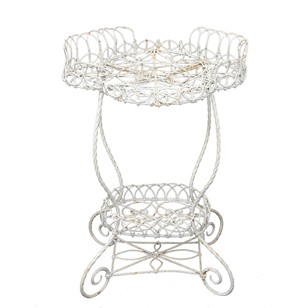 English Victorian Oval Wire Work Garden Planter