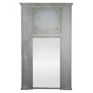 Very Large Louis XVI style Painted Trumeau Mirror
