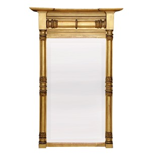 English Regency Gilt Pier Glass Mirror