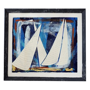 Contemporary Painting Sails (no. 2) by Lyon Oliver