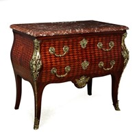 French Antique Commode with gilt Bronze Ormolu