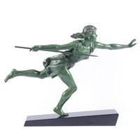 Art Deco Sculpture The Huntress by Carlier