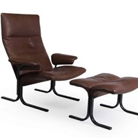 De Sede Lounge Chair and Footstool Set Model
