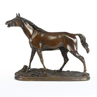 Bronze Horse Sculpture by Mene 1856