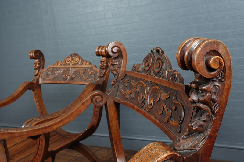 Antique Walnut Curule Chairs c1880-the-furniture-rooms-img-6085-main-637205429847899401.JPG
