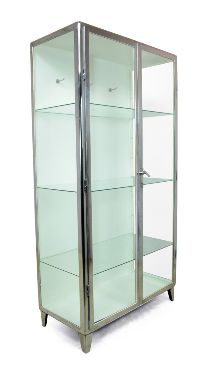 Zoom; Polished Steel Medical Cabinet C1930 The Furniture Rooms Medical  Display Cabinet C1930_main_636456511744255624